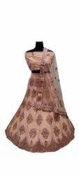 Semi Stitched Wedding Wear Designer Lehenga Choli, 2.3 Mtr