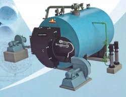 Husk Fired 4000 Kg/hr Steam Boiler IBR Approved
