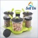 5 In 1 Revolving Spice Storage Container