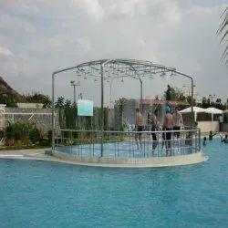 瓷砖户外游泳池,酒店/度假村,6英尺