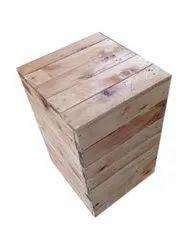 Rectangular Brown Wooden Pallet Box, For Packaging, Capacity: 100 kg