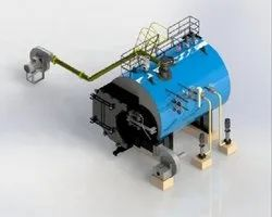 Husk Fired 2000 kg/hr Packaged Steam Boiler