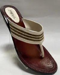 Women Fancy Leather Chappal, TPR, Size: 38