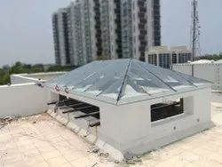 Toughened Roof Glass Canopy Work