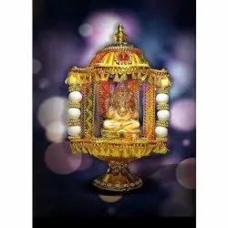 Plastic Ganesha Decorative Temple, Size/Dimension: 10 Inches
