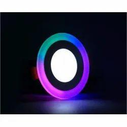 6+3 Watt Dmak Round PGB Color LED Surface Panel Side 3D Effect Light