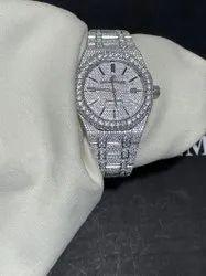Moissanite Studded IcedOut Watch, 41mm Dial, EF/VVS Diamond Watch 9