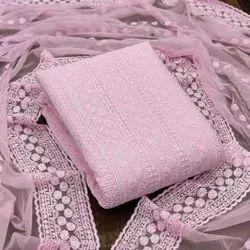 Ladies Dress Material, Batik Prints, Purple