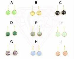 New Design Octagon Shape Hoop Earring Set