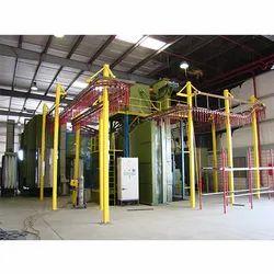 Electric Powder Coating Machine, Gas, Automation Grade: Manual