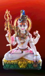 Sitting Marble Lord Shiva Statue