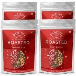 Healthy Treat Roasted Chana - Chili Chatka Combo 800gm (Pack Of 4, 200 Gm Each) Gluten Free Vegan