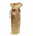 Natural Jute Drawstring Wine Bag