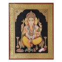 Ganesh Ji Tanjore Painting On Paper Sheet
