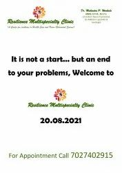 Unisex Online Resilience Multispecialty Clinic, CHANDIGARH