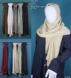 Beingmuslims 70x180cms Metalic Shimmer Islamic Scarves