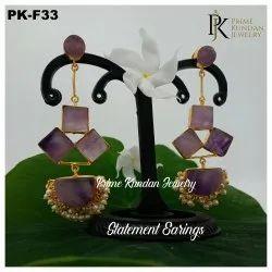 PK-F33 Jade Earring