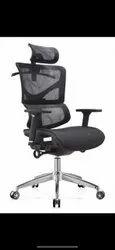 Modern Black Organic Chair, For Home, Back Style: Cushion