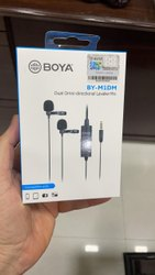 Wired Modern Boya Dual Omni Directional Lavalier Mic, Model Name/Number: By Midm