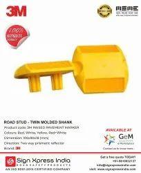 黄色ABS车身3m路螺柱双柄,尺寸:100 X 90 X 16