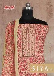 Siya 1458 By Bipson Cotton Lawn Casual Wear Fancy Dress Materials