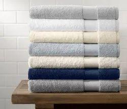 Plain White Bath Towel 100% Cotton Terry Towels, 550-650 GSM, Size: 70 X 140 Cms, For Hotel