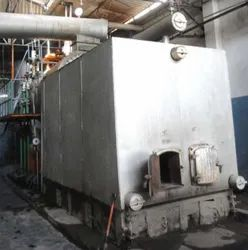 Agro Waste Fired 10 TPH Membrane Wall Steam Boiler IBR Approved