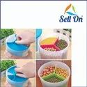 3 Section Air Tight Plastic Grocery Food Storage Container