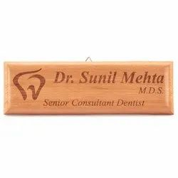 Custom Wooden Name Plate For Office Use