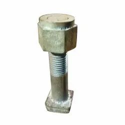 Silver Mild Steel Square Bolt Railway Track Fitting, Size: 3 Inch