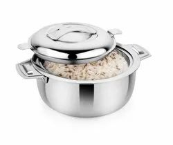 Stainless Steel Insulated Casserole With Steel Lid And Bottom, 1200 Ml