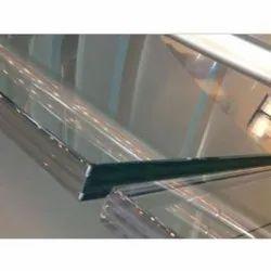 Transparent Toughened Safety Glass, Shape: Flat