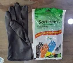 Black Rubber Hand Gloves(Soft Touch)