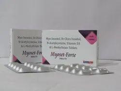 Myo Inostol 1gm.Di Chiro Inostol 25 Mg. N Acytylesystene 600mg .vitamin D3 500 Iu And L Mytle Folate