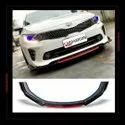 Universal Car Front Bumper Red Lip Splitter (4Pcs) Body Kit Suitable For All Cars