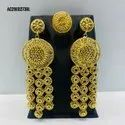 Earring African Jewellery Design Wedding Party Gold Color