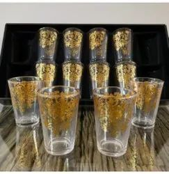 gold print drinking glasses, For Hotel