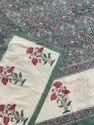 Hand block printed cotton sheeting bedsheet