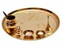 Pure Brass Pooja Thali For Pooja Purpose & Corporate Gift