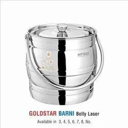 Stainless Steel Barani -Goldstar belly Laser