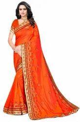 Janasya Women's Multicolor Sana Silk Embroidered Saree With Blouse Piece(lalkila-Pack Of 4)