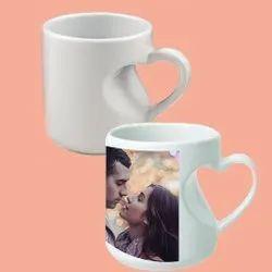 Body Heart Handle Ceramic Sublimation Mug
