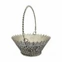Silver Plated Fruit Basket For Home Decoration & Corporate Gift