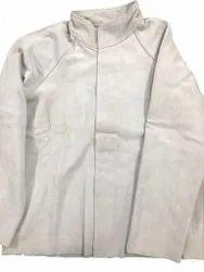 White Split Leather Safety Jacket