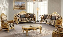 Aarsun Antique Royal Wooden Sofa Set, For Home, Living Room