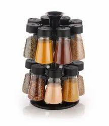 Plastic Revolving Spice Rack Pack Of 16 For Kitchen Storage Container Rack Sets S