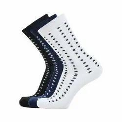 Long Cotton Rich Polka Dots Black Blue White Socks