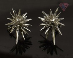 925 Sterling Silver Spike Earring