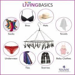 None Livingbasics Stainless Steel Cloth Drying Hanger - Square