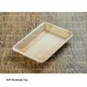 9 X 6 Inch Areca Leaf Serving Tray, For Restaurant, Shape: Rectangle